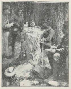 Chef de bataillon dictant un ordre au Lingekopf
